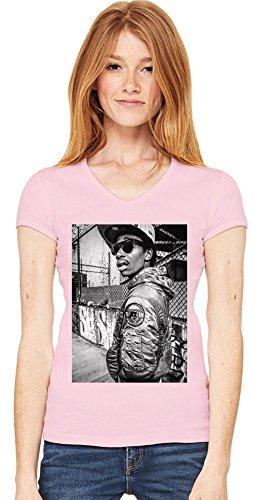 Wiz Khalifa In New York Dope Fresh Womens V-neck T-shirt XX-Large -