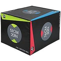 Caja pilométrica 3 en 1 de espuma, ideal para entrenamiento combinado (50,8 - 60,96 - 76,2 cm).