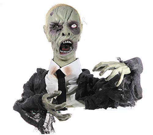 Preis am Stiel Halloween Zombie Butler, animiert | Halloween | Dekoration | Party | Feier | Skelett | Grusel | Horror | Figur | Schocker | Animation | Halloweendeko | Partydeko