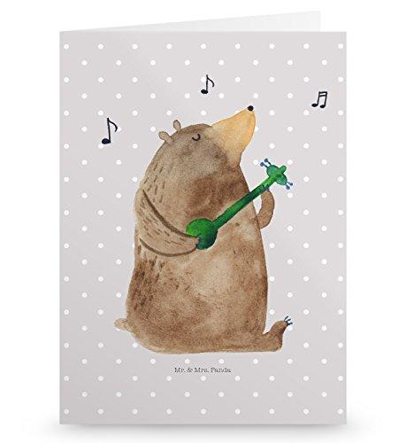 Mr. & Mrs. Panda Grußkarte Bär Lied - Bär, Bärchen, Bear, Liebeslied, Lied, Song, Valentinstag, Valentine, Geschenk, Partner, Liebe, Freundin, Frau, Herz, Spruch Grusskarte, Klappkarte, Einladungskarte, Glückwunschkarte, Hochzeitskarte, Geburtstagskarte