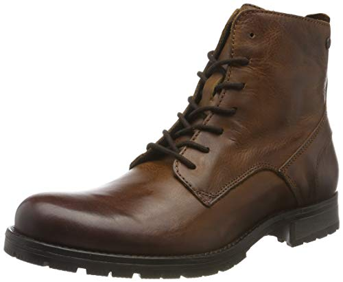 JACK & JONES Jfworca Leather Boot Cognac Noos, Botas Clasicas...