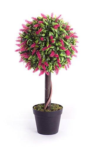 Best Artificial Künstlicher Lavendelbaum, 60cm, in Kugelform, für Garten, Büro, Wintergarten, für den Innen- und Außenbereich