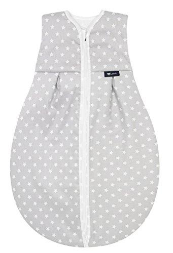 Alvi Kugelschlafsack Thermo | Baby-Schlafsack ärmellos, Größe:90, Design:kleiner Stern grau