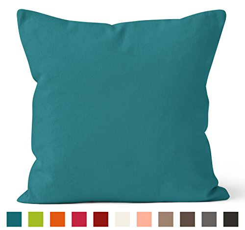 Encasa Homes Dyed Cotton Canvas Cushions (Choose With Or Without Fillers),Cotton,40cm X...