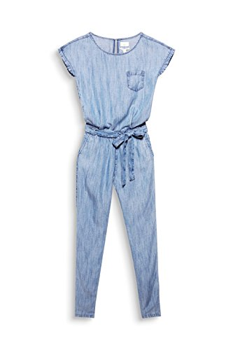 ESPRIT Damen Jumpsuit 058EE1L002, Blau (Blue Medium Wash 902), 40 - 3