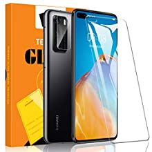 A-VIDET 2 Pack Screen Protector+1 Pack Camera Lens Protector for Huawei P40,9H Hardness [Case Friendly] [Anti-Scratch] [Bubble Free] Tempered Glass for Huawei P40
