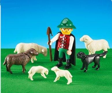 PLAYMOBIL 6204 - Shepherd with Flock of Sheep