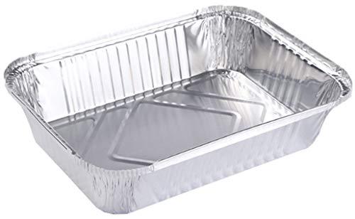 HorBous Bandeja Rectangular Papel de Aluminio con Tapa para Alimentos/Plato Aluminio...