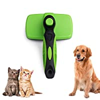 AriTan Professional Pet Self Cleaning Slicker Brush, Dog Shedding Grooming Tools Suitable for Long or Short Hair, Grooming Comb for Dogs, Cats, Rabbits, Poodles