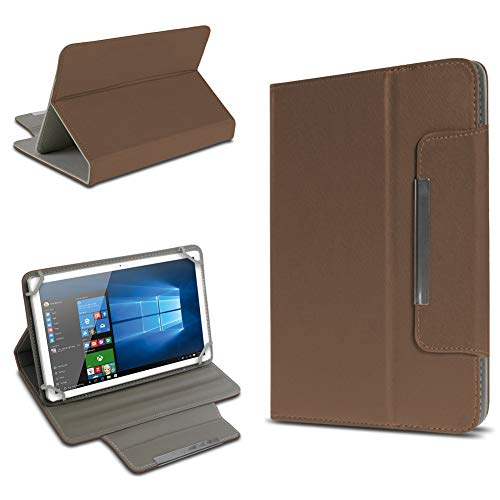 UC-Express Schutz Tasche für Tablet Hülle Schutzhülle Universal 10 Zoll Cover Case Etui Bag, Farben:Braun, Tablet Modell für:BLAUPUNKT Endeavour 1000 WS