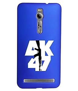 KolorEdge Printed Back Cover For Asus Zenfone 2 ZE551ML - Dark Blue (1408-Ke15110Zen2DBlue3D)