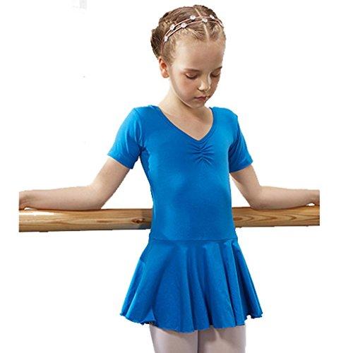 Byjia Ballett Gymnastik Praxis Match Kleidung Tanz Mädchen Kleid Kindergarten Kinder Prinzessin Tulle Party Kinder Bühnen Studenten Gruppe Team Leistung Kostüme 4# 130Cm