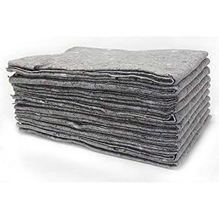 10 x Packdecken 330g/m² - grau, 130x190cm Made in Germany Strapazierfähige Umzugsdecken Möbeldecken Recycling-Material Transport Decken Allzweckdecken