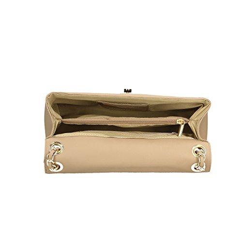 Chicca Borse Borsa a tracolla in pelle 28x18x10 100% Genuine Leather Fango Venta Barata De Marca Nueva Unisex pK1eo
