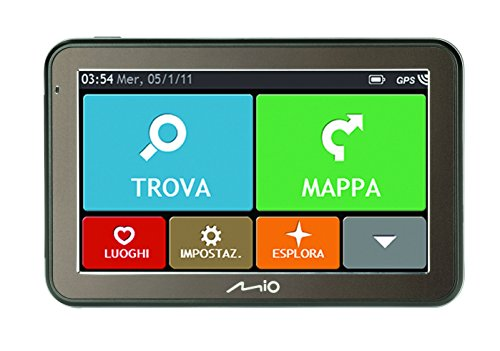 Mio Spirit 7500 Western Europe LITE - Navigatore GPS per Auto con Mappe Europa Occidentale (15 Paesi), Schermo Touch Screen da 5 Pollici, Visualizzazione 3D degli Svincoli, Sistema di Assistenza al Parcheggio, Funzione 'Trova la Mia Auto', Dati Autovelox Pre-Caricati (Prova Gratuita di 3 Mesi), Aggiornamento Mappe a Vita, Nero