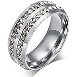 Two Row Shining Diamonds Fashion Men Ring mr45 us10