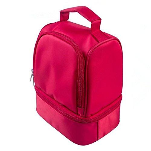 neues design dicke warme wärme isolierte kühlboxen nylon mittagessen tüte red lunchpaket - täschchen mit reißverschluss kühler mittagessen - tasche Rot