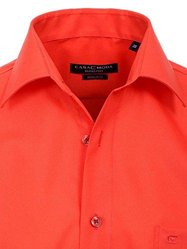 CASAMODA Herren Hemd 006052 72er Ärmel 100% Baumwolle - Comfort Fit - extralang Koralle