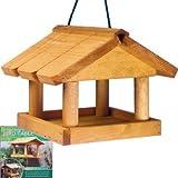 BRAND NEW HANGING WOODEN BIRD TABLE GARDEN WILD BIRDS TREE OR BRACKET HANG FEEDING STATION