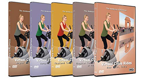 5 Disc Set Virtual Cycle Rides DVD Combo Pack - Asia Journey Tour - Scenic Route Videos for Cycling Everyday Workouts