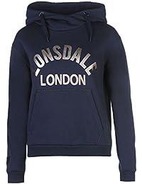 Lonsdale London Sweat à capuche pour femme Bleu marine à capuche Pull pour vêtements de sport