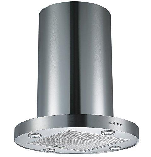 411ZZYxNNuL - Cookology TUB350SS 60cm Tubular Island Cooker Hood - Stainless steel 750m3/hr