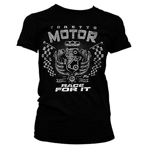Toretto Motor - Race For It Official Women T-Shirt (Black), XX-Large