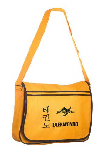 Retro Messenger Bag gold/schwarz Taekwondo