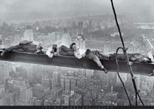Empire 208637 New York - Manhattan - Bauarbeiter Stahlträger - Poster - 91.5 x 61 cm