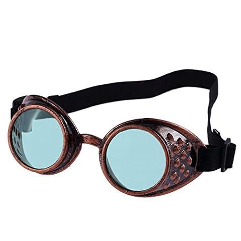 Lunette De Soleil Verte - Lunettes de soleil style vintage Steampunk, lunettes