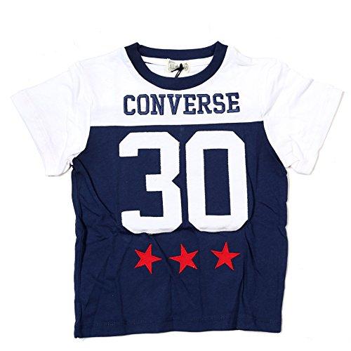 Converse Jersey Shirt M/C Auth. Boy 30Embro, blau (T-shirt Converse Jersey)