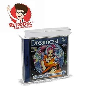 10 Klarsicht Schutzhüllen für SEGA DREAMCAST – 0,3MM – Spiele Originalverpackung Passgenau Glasklar Protectors Protector Box Case Game