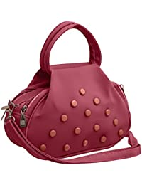 TAP FASHION Fancy Stylish Elegant Women's Cross Body Sling Bag With French Studs ( Pink And Peach Pink, WSB-4525...