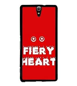 Fiery Heart 2D Hard Polycarbonate Designer Back Case Cover for Sony Xperia C5 Ultra Dual :: Sony Xperia C5 E5533 E5563