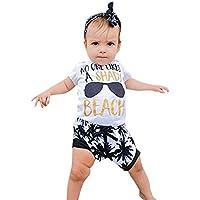 Sunday Oberteile + Kurze Hose Kinder Neugeborene Baby Mädchen Brief Gläser Drucken T-Shirt Tops + Baum Hosen Outfits... preisvergleich bei billige-tabletten.eu