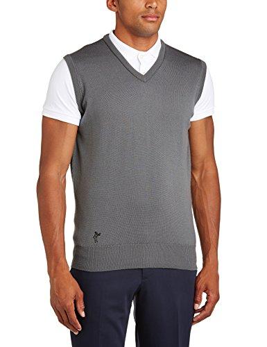 Ashworth Gilet en laine mérinos pour homme gris - Gris foncé