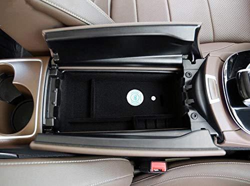 XinChout Kabellose Ladebox Zentralaufbewahrung Paletten-Armlehne Container Box Abdeckung Kit Trim Auto Styling für Mercedes-Benz W213 2017 2018 -
