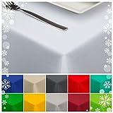 StoffTex Tischdecke Tischläufer Tischtuch Tischwäsche Tischdekoration Tafeltuch (Weiß, 140 x 200 cm)