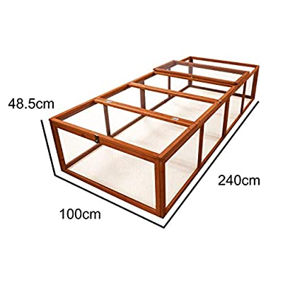 KCT 8ft Large Wooden Pet Run Rabbit Shelter by KCT