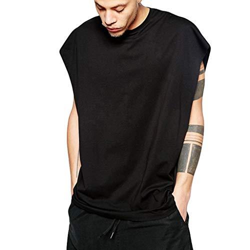EUZeo Herren Sommer Lässige Mode Hip Hop Stil t Shirts Männer Einfarbig Sport Sleeveless Lose Weste Tops Sportlich T-shirts Undershirts Hemden -