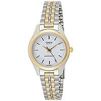 Casio Women's White Dial Stainless Steel Analog Watch - LTP-1129G-7ARDF