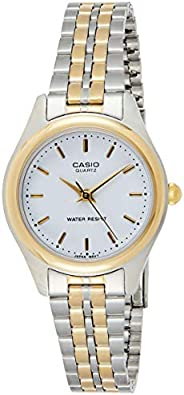 Casio Women's White Dial Stainless Steel Analog Watch - LTP-1129G-7