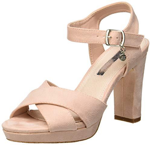XTI 32035, Scarpe col Tacco con Cinturino Dietro la Caviglia Donna, Rosa Nude, 37 EU