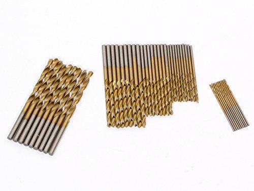 Beetrie 50PCS 1 / 1,5 / 2 / 2,5 / 3 mm HSS HSS Bohrer Set Werkzeuge Titanium Coated - General Electric-handys