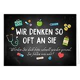 Große Grußkarte XXL (A4) Gute Besserung/Wir denken oft an SIE/mit Umschlag/Edle Design Klappkarte/Krank/Gesundheit/im Krankenhaus/Extra Groß/Edle Maxi Genesungskarte