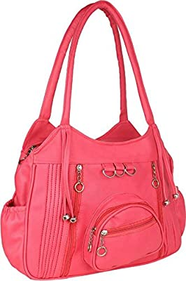 Mango Star casual designer Queen Pink Shoulder Handbag for Girls/Women (office/collage/ceremony/party wear)