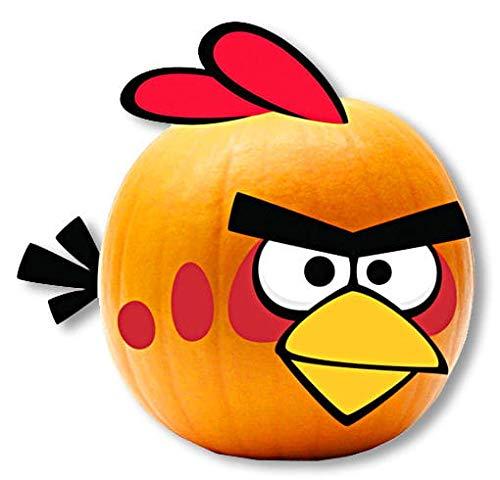 Horror-Shop Halloween Kürbis Dekoration Angry Birds