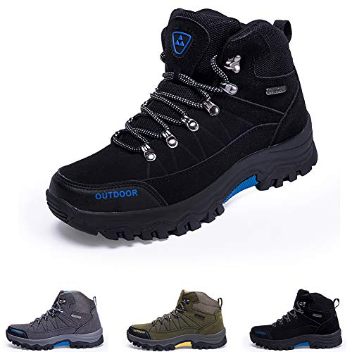 Men's Ankle Hiking Boots, Breathable Trekking Shoes, Non-Slip Footwear for All Season Walking, Travelling, Backpacking,Camping, Trekking, Biking