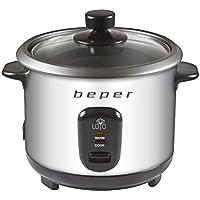 BEPER 90.550 Cuiseur à riz et à vapeur Rice cooker 400W 1 litre 400 W, INOX