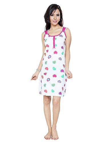 Flamingo-Lingerie-Womens-Cotton-Sleeveless-Glitter-Print-Work-Nighty